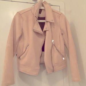 Biker Jacket - Light Pink- Small
